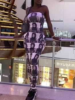 Sexy Strapless Sleeveless Collect Waist Maxi Dress
