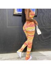 Tie Dye Sleeveless Skinny Yoga Outfit