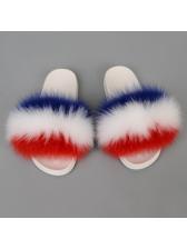 Indoor Non Slip Ladies Fluffy Slippers