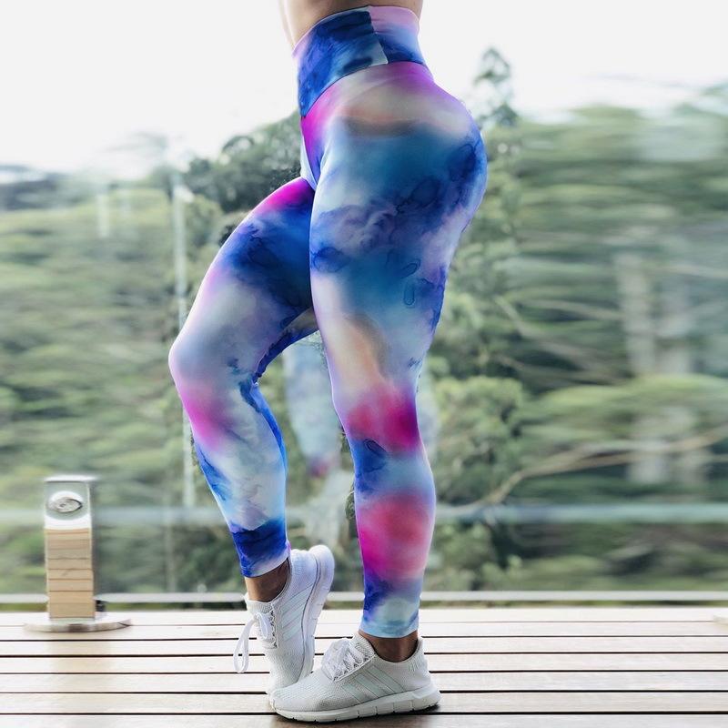 Sports High Waist Tie Dye Lift Leggings
