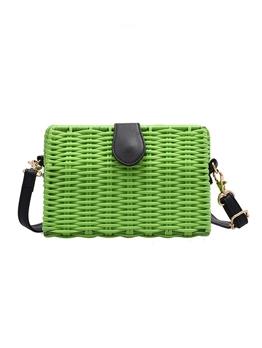 Woven Design Summer Holiday Shoulder Bags