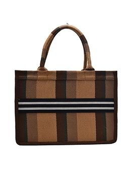 Large Capacity Checked Tote Handbags