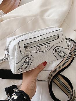 Simple Design Zipper Shoulder Bags For Women