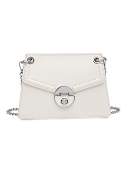 Trendy Solid Color Hasp Chain Shoulder Bag