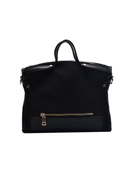 Solid Large Capacity Handle Large Shoulder Bag