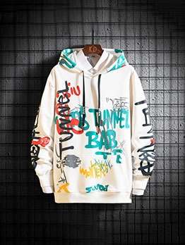 Stylish Colorful Printed Men Cool Hoodies