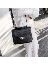 Fashion Alligator Pattern Hasp Shoulder Bags With Handle