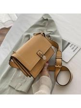 Threaded Solid Color Square Crossbody Shoulder Bag