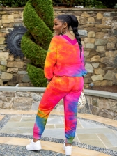 Casual Long Sleeve Tie Dye Two Piece Sets