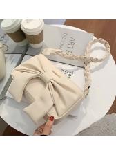 Solid Bowknot Fashion Twist Shoulder Bag
