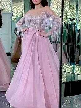 Tassel Sweet Gauze Maxi Dresses For Women