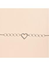 Heart Small Circle Single Layer Fashion Chain Belt