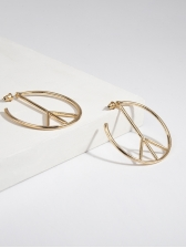 Simple Design Geometric Alloy Earrings For Women