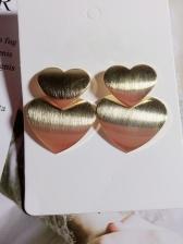Personality Double Heart Shape Stud Earrings