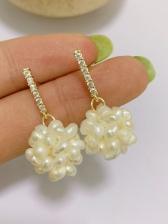 Sweet Rhinestone Beading Earrings For Women