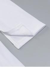 Solid Long Sleeve Zipper Split Bodycon Dress