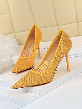 Euro Design Net Shape Stiletto Heels For Women
