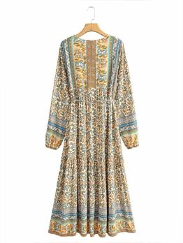 Bohemian National Style Women Maxi Dress