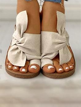 Trendy Bowknot Decor Stylish Slippers