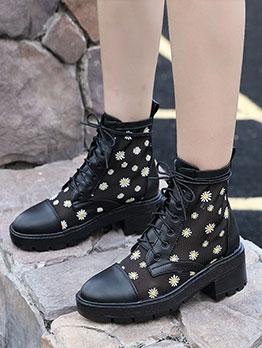 Chunky Mesh Breathable Daisy Martin Boots