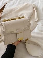 Crocodile Print Square Women Chain Shoulder Bags
