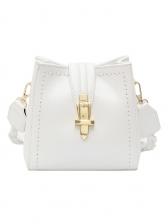 Twist Belt Solid Color Threaded Shoulder Bags