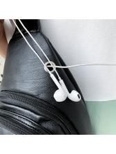 Solid Color Zipper Up Crossbody Bags For Men