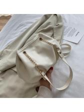 Chic Pure Color Cloud Shape Chain Shoulder Bag