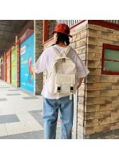 Contrast Color Plaid School Backpacks
