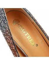 Euro Design Gradient Color Glitter Stiletto Heels