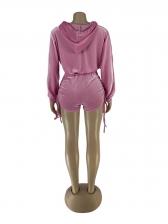 Korean Suede Shirring Women Pants Set