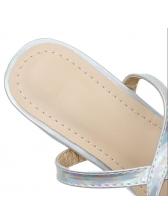 Letter Rhinestone Women Ankle Strap Heels