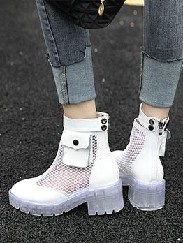 Transparent Gauze Women Martin Boots
