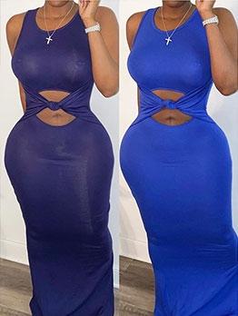 Solid Floor Length Women Sleeveless Maxi Dress