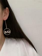 Love Letter Tiny Rhinestone Round Drop Earrings