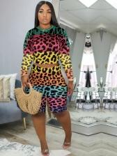 Hot Sale Leopard Long Sleeve Two Piece Sets