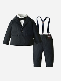 Black And White Three Piece Formal Boys Set
