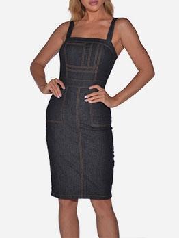 Slim Fit Sleeveless Women Bodycon Dress