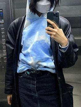 Hot Sale Long Sleeve Tie Dye Loose Hoodie