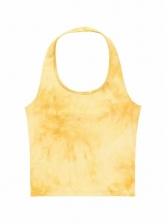 Stylish Tie Dye Cropped Halter Tank Top