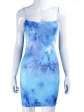 Sexy Tie Dye Sleeveless Mini Dress