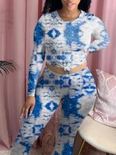 Fashion Long Sleeve Tie Dye Two Piece Sets