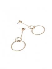Simple Design Geometric Round Earrings For Women