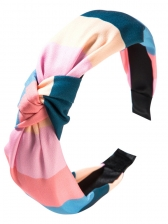 Simple Style Colorful Stripe Middle Knot Hair Hoop