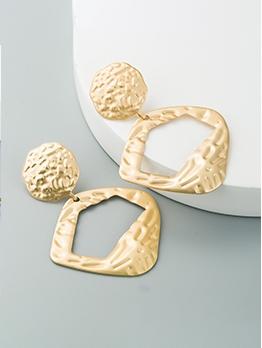 Popular Solid Geometric Temperament Earrings For Women