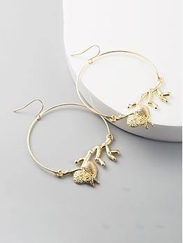 Simple Design Solid Geometric Round Shape Earrings