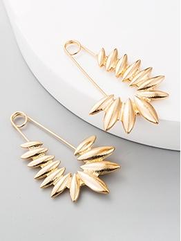 Creative Leaf Shape Pin Earrings For Women