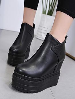 High Platform Black Boots For Women