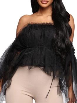 Gauze Off Shoulder Women Blouse Fashion