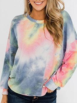 Loose College Long Sleeve Sweatshirt For Women